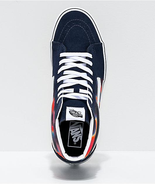 Vans Sk8-Hi Dark Aura Multi & White Skate Shoes