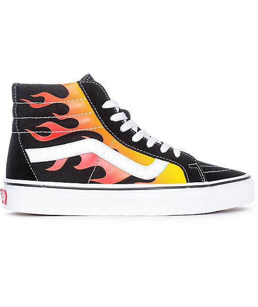 Vans Sk8-Hi Flame Black \u0026 White Skate