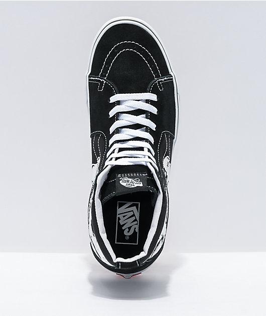 Vans Sk8-Hi Glow-In-The-Dark Skulls Skate Shoes