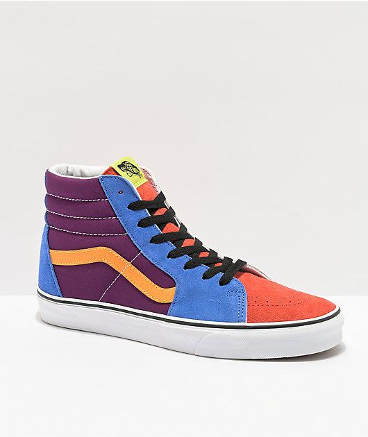 Vans Sk8-Hi Grape Juice & Marigold Skate Shoes