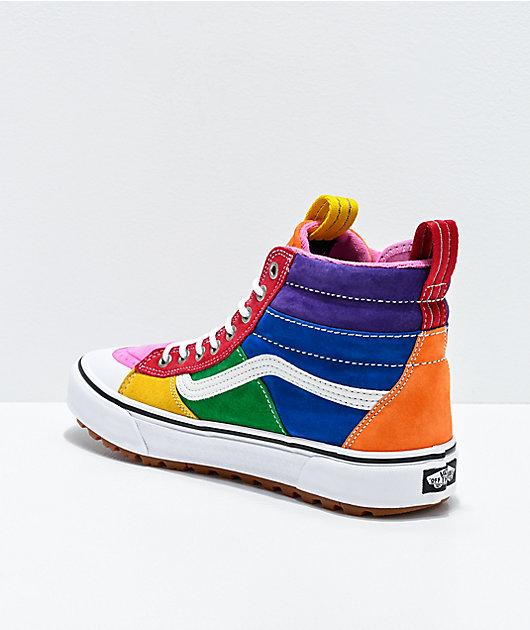 NIB*Vans*Sk8-Hi MTE 2.0 DX Sneaker*Rainbow*Men 8-13*