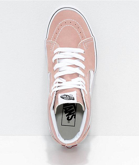 Vans Sk8-Hi Mahogany Rose \u0026 White Skate