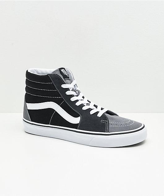 Vans Sk8-Hi Mix & Match Black, White & Grey Skate Shoes
