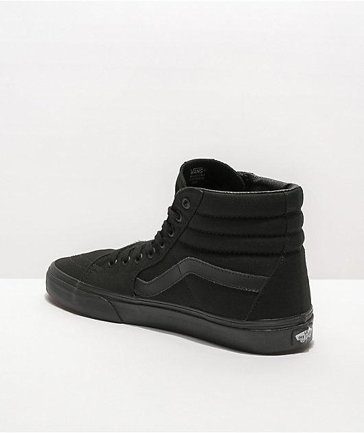 Vans Sk8-Hi Mono Black Skate Shoes | Zumiez