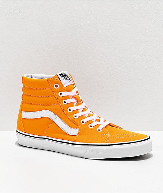 Vans Sk8-Hi Neon Blaze zapatos de skate en naranja y blanco