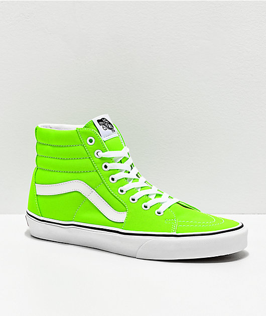 Vans Sk8-Hi Neon Gecko Green \u0026 White