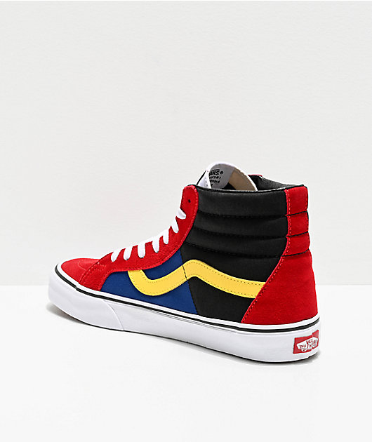 Vans Sk8-Hi OTW Rally Reissue Chili Red, Black & White Skate Shoes