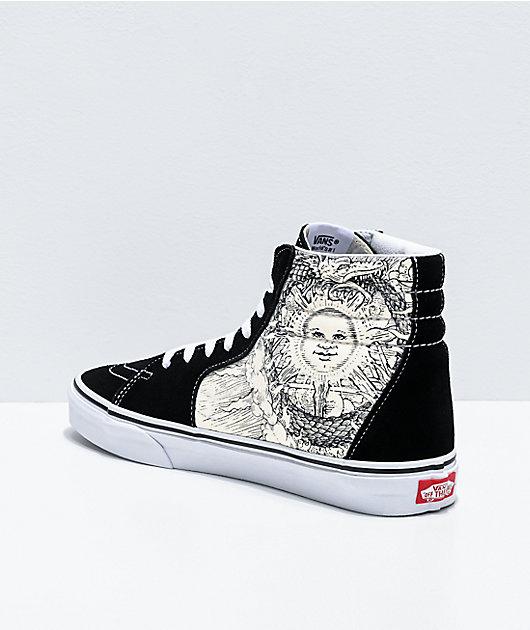 Vans Sk8-Hi Ouroboros Black & White Skate Shoes