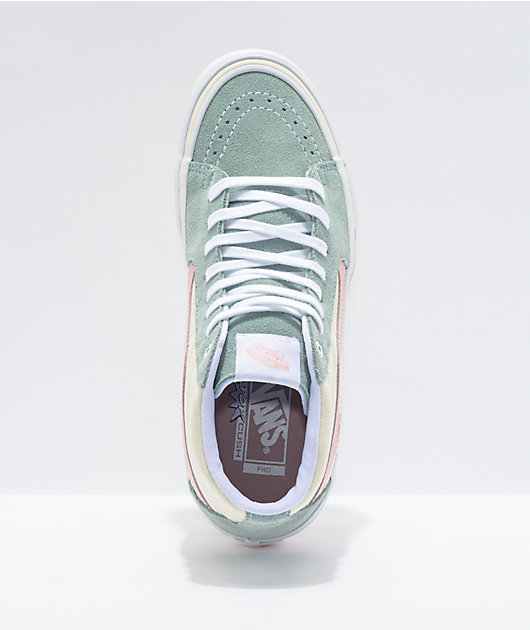 Vans Sk8-Hi Pro Washed Antique Blue Skate Shoes
