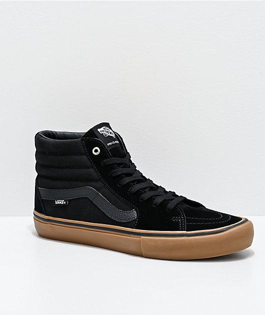 Vans Sk8-Hi Pro zapatos de skate en negro y goma