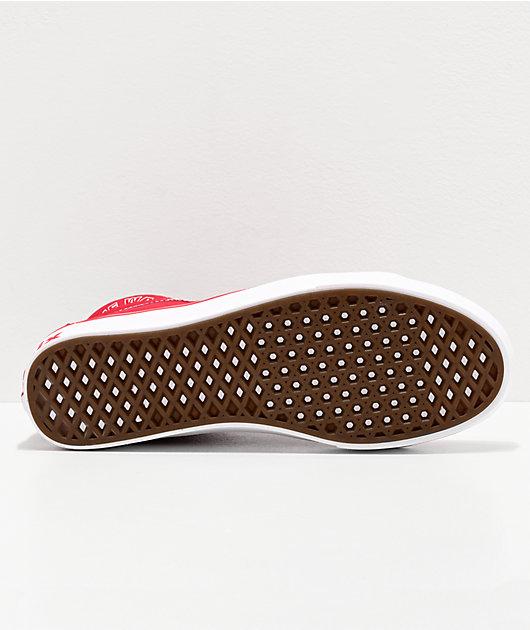 Vans Sk8-Hi Reissue ComfyCush Distort Red & White Skate Shoes