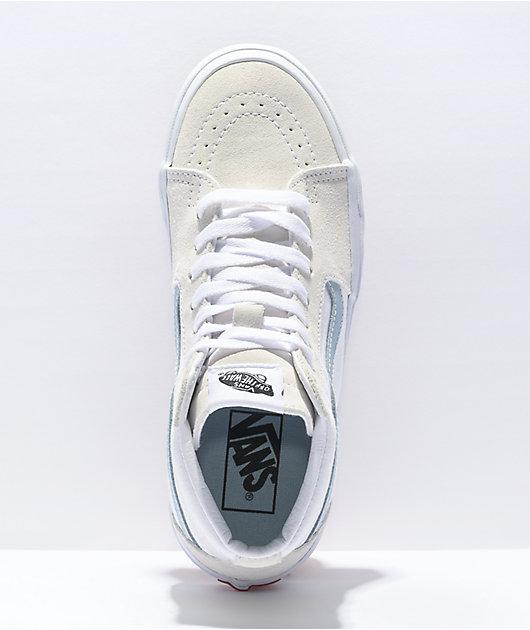 Vans Sk8-Hi Sky Blue & White Skate Shoes