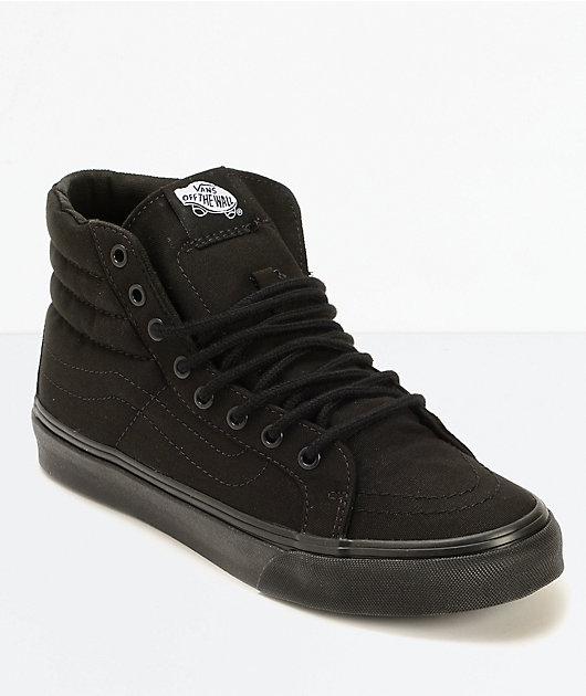 Vans Sk8-Hi Slim Black Shoes   Zumiez