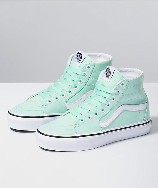 Vans Sk8-Hi Tapered Bay & True White Skate Shoes