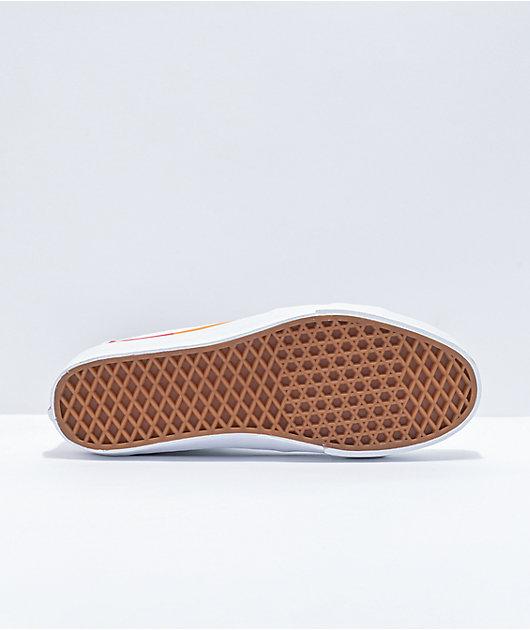 Vans Sk8-Hi Tapered Rainbow Foxing & White Skate Shoes