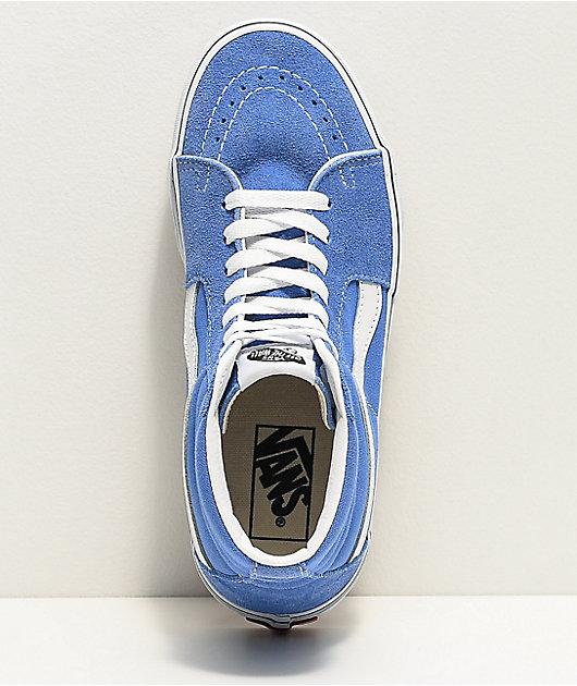 Vans Sk8-Hi Ultramarine & White Skate Shoes