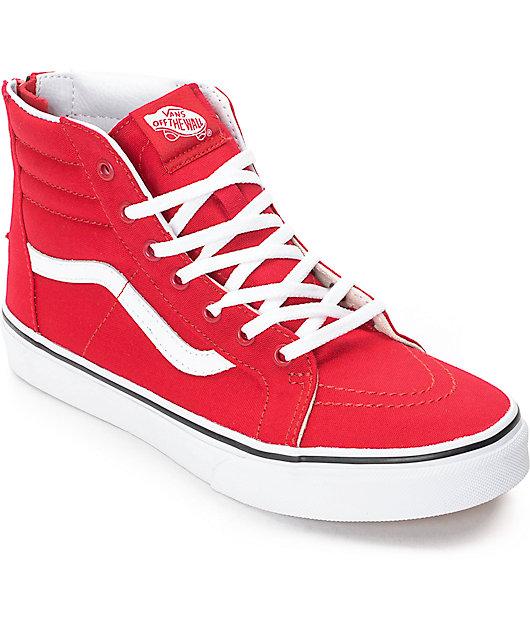 Vans Sk8-Hi Zip Racing Red Kids Skate