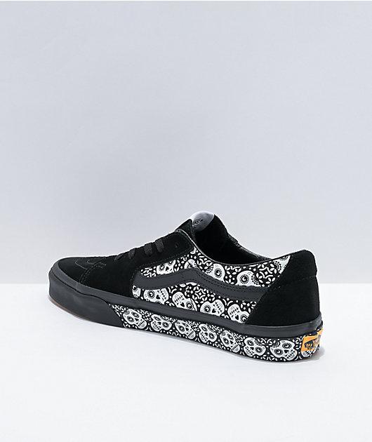 Vans Sk8-Low Dia De Los Muertos Black Skate Shoes