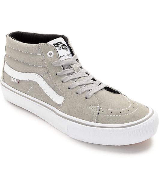 Vans Sk8-Mid Pro Drizzle Grey \u0026 White