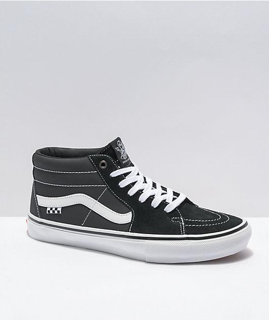 Vans Skate Grosso Sk8-Mid Black & White Skate Shoes