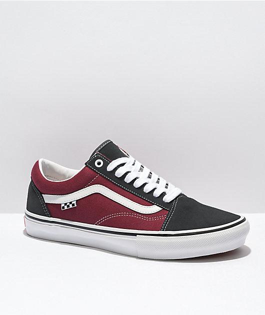 Vans Skate Old Skool Asphalt & Pomegranate Skate Shoes
