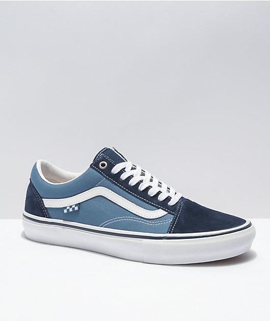 Vans Skate Old Skool Navy & White Skate Shoes