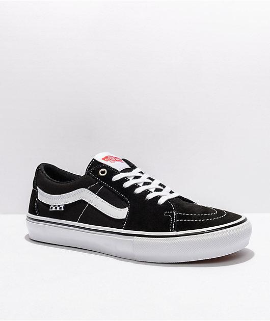 Vans Skate Sk8-Low Black & White Skate Shoes