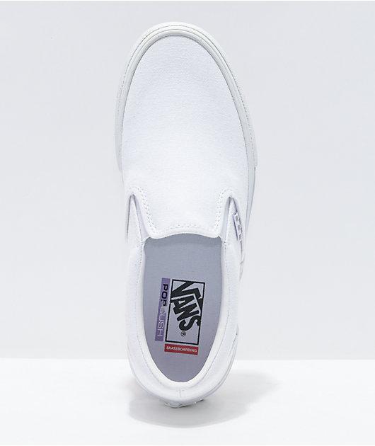 Vans Skate Slip-On White Skate Shoes