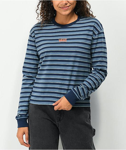 Vans Skate Stripe Blue & Black Long Sleeve T-Shirt
