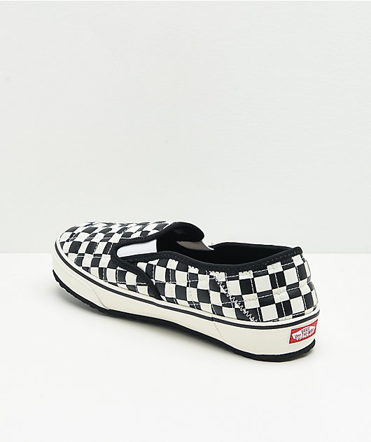 Vans Slip-Er Black & White Checkerboard Slippers