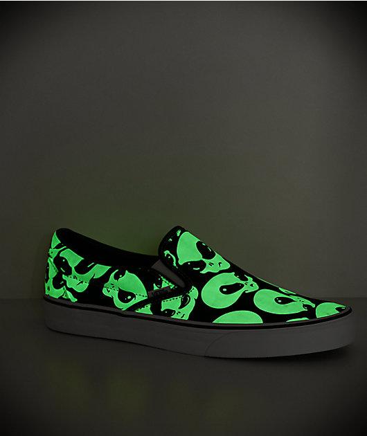 Vans Slip-On Alien Ghost Black \u0026 White