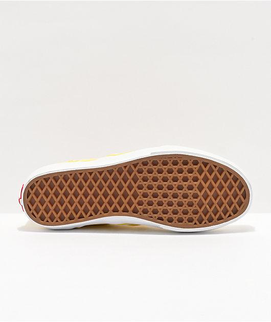 Vans Slip-On Aspen Gold & White Checkerboard Skate Shoes