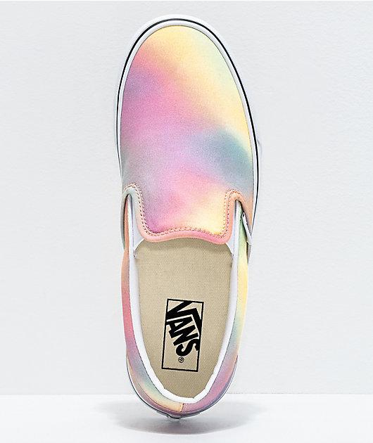 Vans Slip-On Aura Shift & True White Skate Shoes