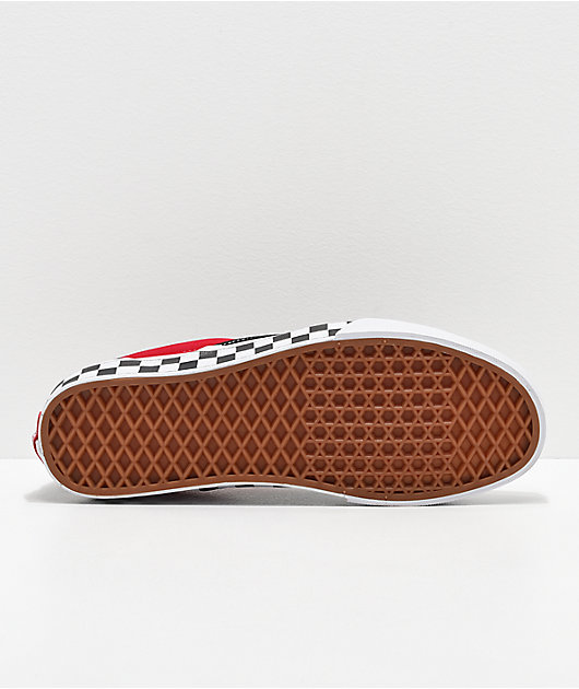 Vans Slip-On BMX Black, Red & White Checkered Skate Shoes