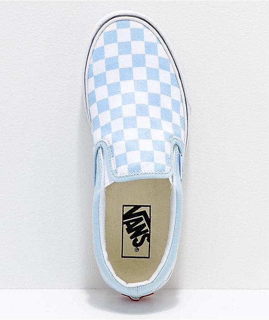 Vans Slip-On Baby Blue \u0026 White