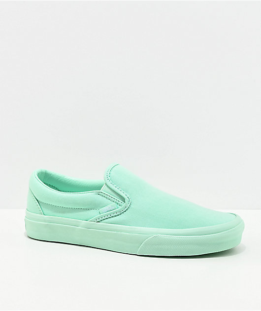 Vans Slip-On Bay All Mint Skate Shoes