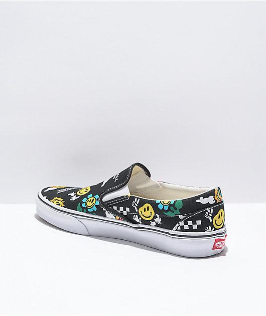 Vans Slip-On Better Day Black & White Skate Shoes