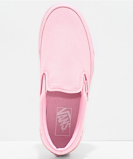 Vans Slip-On Blushing Bride All Pink Skate Shoes
