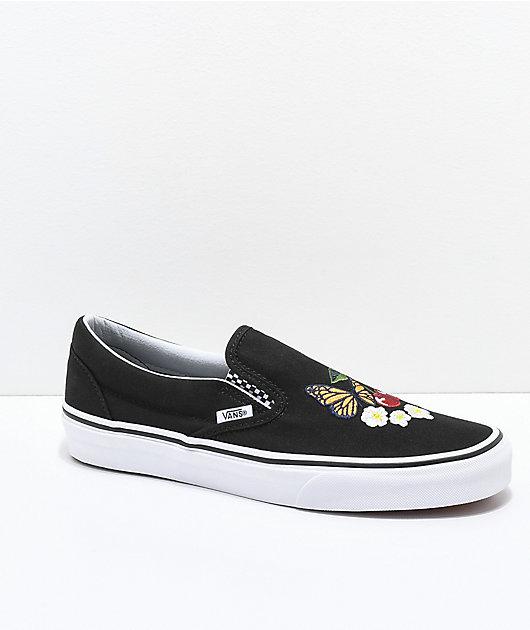 Vans Slip-On Checker Floral Black Skate