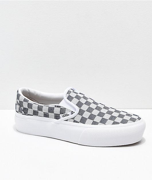 Vans Slip-On Checkerboard Denim