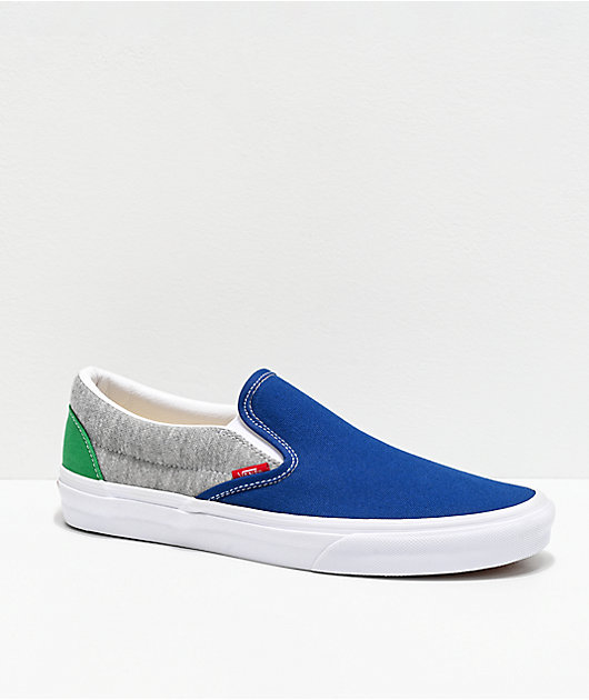 Vans Slip-On Coastal Grey & White Skate Shoes