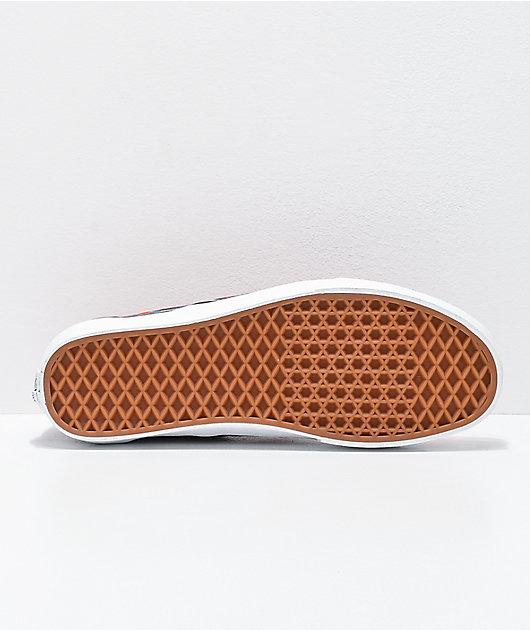 Vans Slip-On Dark Aura Multi & True White Skate Shoes