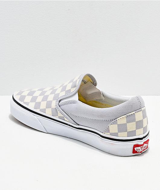 Vans Slip-On Dawn zapatos en gris y blanco de cuadros