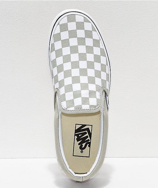 Vans Slip-On Desert Sage \u0026 True White