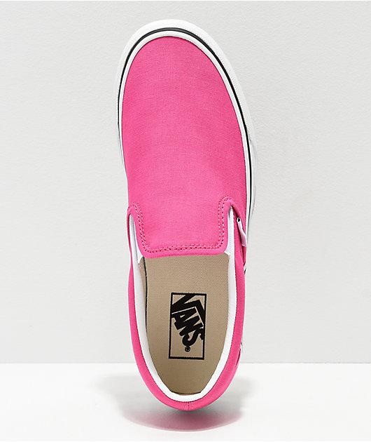 hot pink vans slip ons