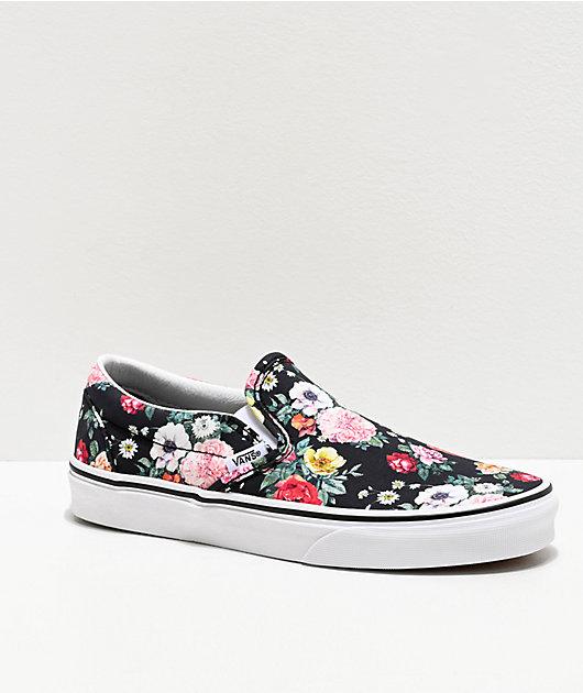 Vans Slip-On Garden Floral Skate Shoes