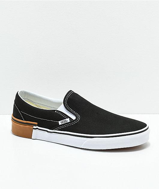 Vans Slip-On Gum Block Black Skate