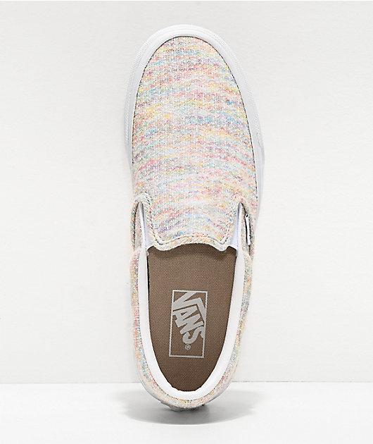 Vans Slip-On Jersey Rainbow Skate Shoes