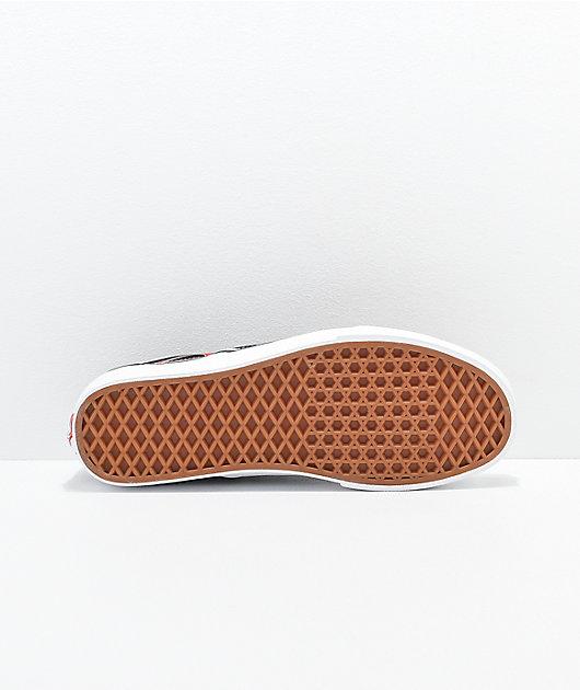 Vans Slip-On Mash Up Flame Skate Shoes