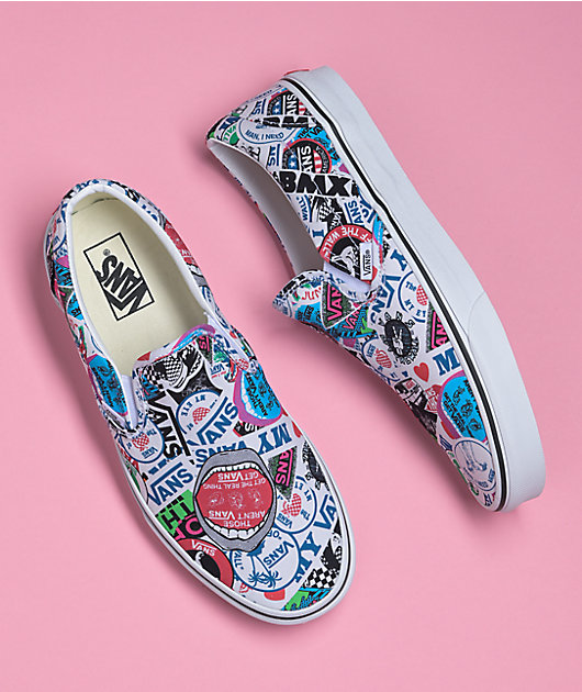 Vans Slip-On Mash-Up Stickers Skate Shoes